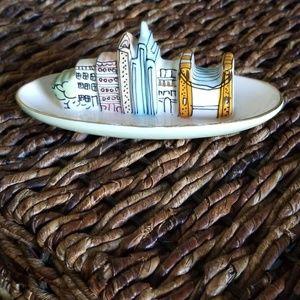Anthropologie NYC Skyline Ceramic Trinket Dish